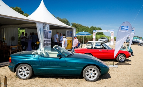 Special attraction at the Standox pavilion: a BMW Z1.