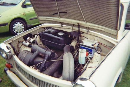The engine of the Trabant 601 (from 1964-1990)