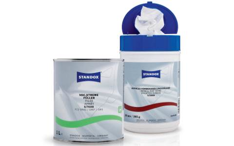Standox VOC-Xtreme-Filler U7600 and wipes U3000