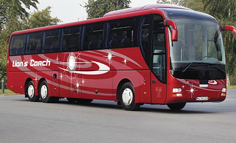 Red bus commercial vehicles