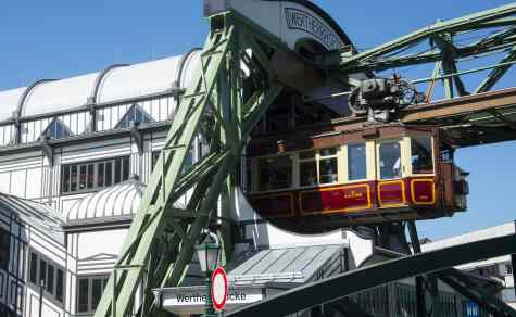 The suspension railway is the emblem of Wuppertal, Germany