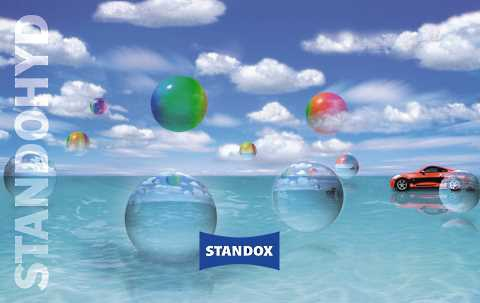 Later Standohyd adverts presented aesthetically appealing blue worlds of water.