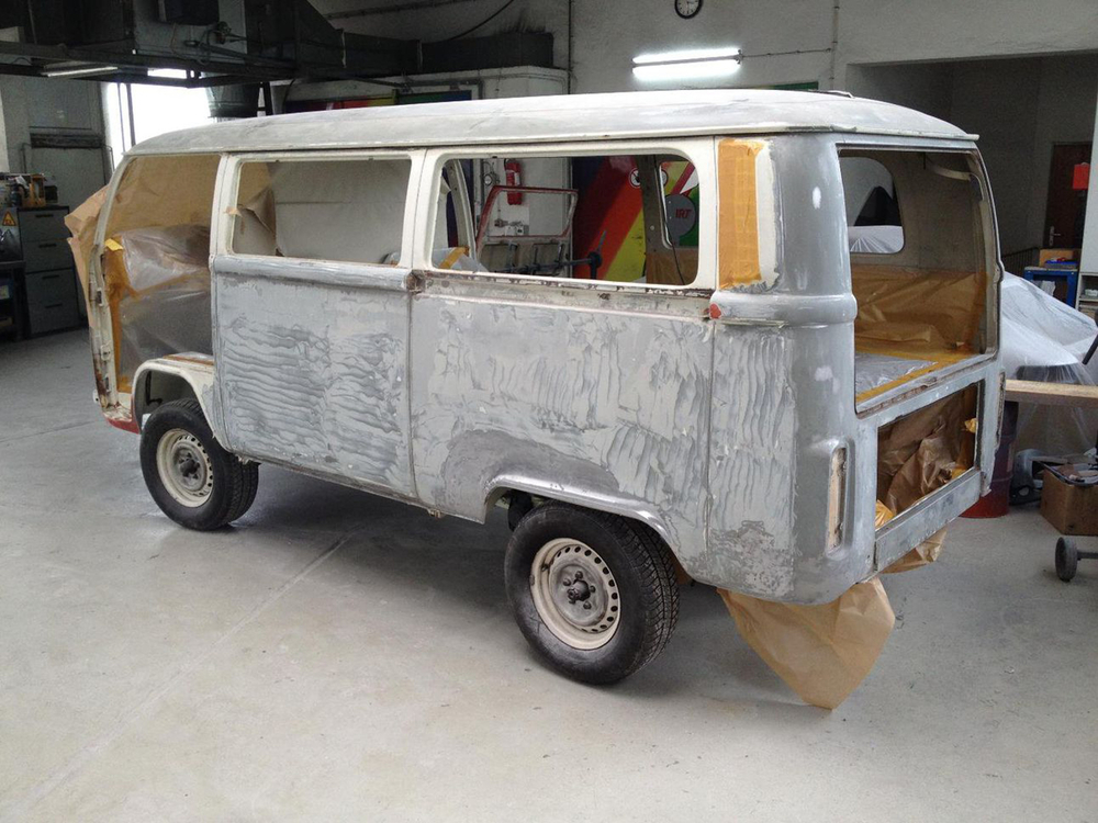Iconic VW bus extensively restored with Standox