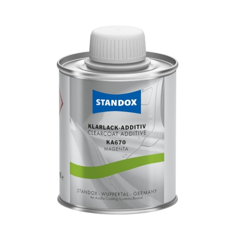 A smart solution: Standox is now offering clearcoat additives in small containers