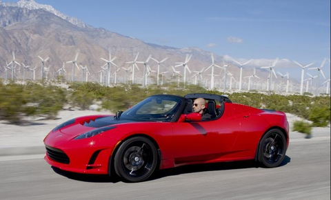 Electric can also be elegant: Tesla Roadster