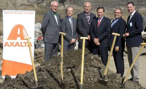 Ground-breaking ceremony for the new waterborne paint plant.