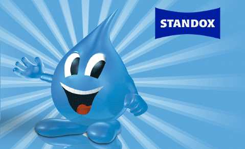 Blue Stan was the mascot of Standohyd's advertising campaign.
