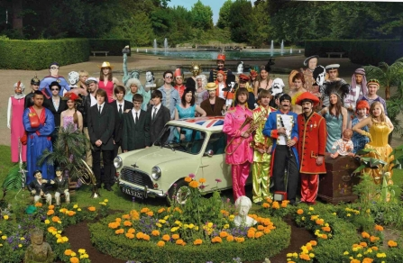 This motif from the Car & Culture calendar of 2013 is an homage to the Beatles' famous Sergeant Pepper album of 1967.