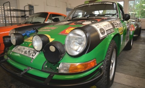 A Porsche 911 S/T from 1971, built for the African Safari Rally