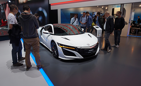 Visitors were amazed by the Honda NSX hybrid supercar.