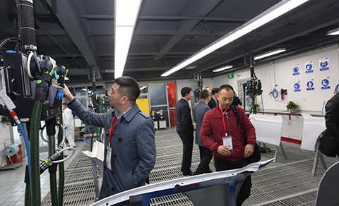 During a guided tour, visitors were able to get detailed information about what was available and the technical equipment in the training centre.