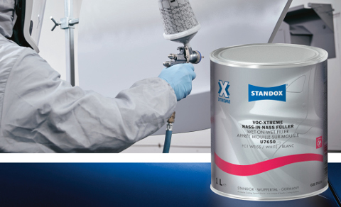 The new VOC-Xtreme Wet-on-Wet Filler boasts a short flash-off time, good stability on vertical surfaces and excellent topcoat holdout.
