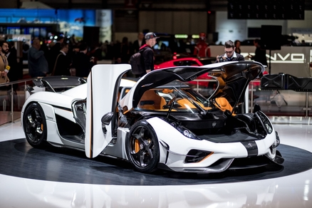Koenigsegg's new Regera model in white