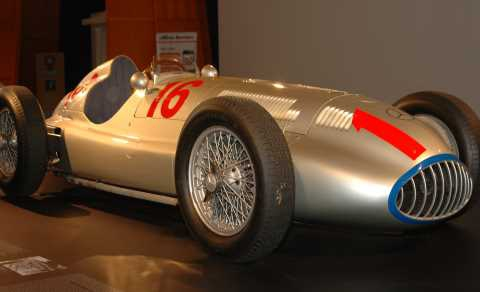 Shining race car: Tripoli's Silver Arrow from 1939.