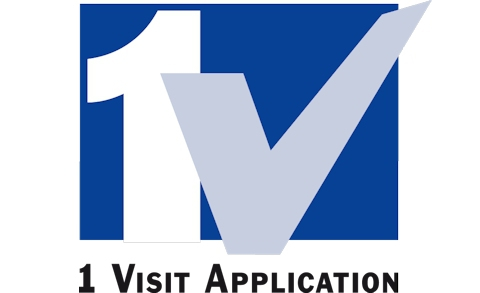 Logo: One Visit Application.