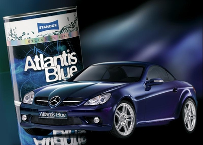 Mercedes SLK in Atlantis Blue