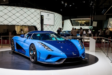 Koenigsegg's new Regera model in blue