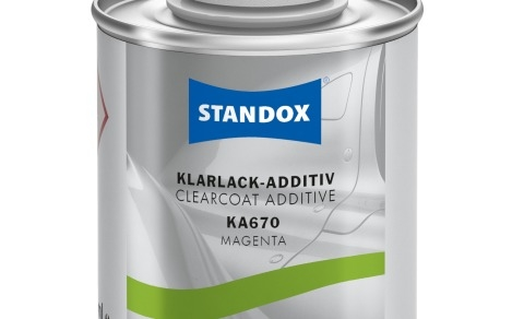 Standox clearcoat additive now in small 100ml containers